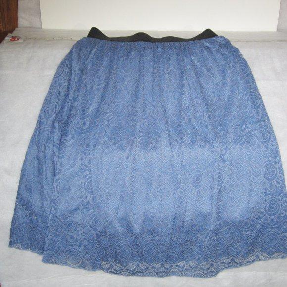 LuLaRoe Short Blue Skirt Size M